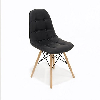 silla eames color negro